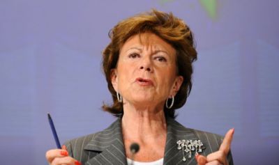 Commissioner Neelie Kroes heads the EU's commission for digital affairs which has called for an end to US domination of the internet. (Photograph: ©The Guardian)