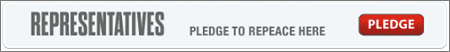 Pledge button on repeace.com for politicians